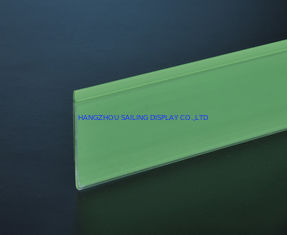 Cina Environmental Recycled Shelf Data Strips 32mm / 39mm For Supermarket pemasok